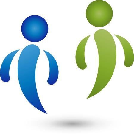nursing association: Two People Logo, People, Partnership