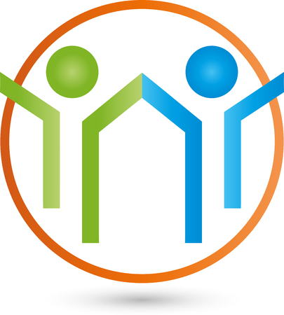 nursing associations: Two People Logo, People, Partnership