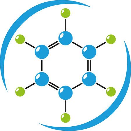 分子ロゴ、科学、化学