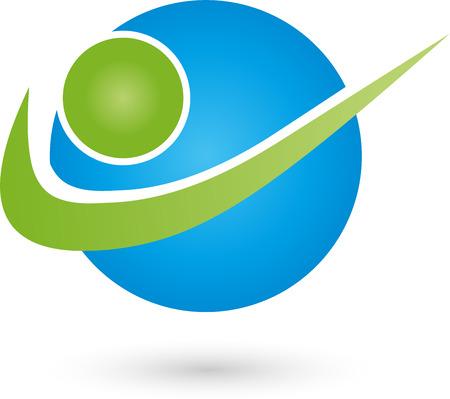 logo medicina: Persona en el logotipo de movimiento, deportes, hombre