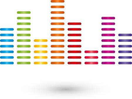 music logo: Equalizer, music logo, Sound Illustration