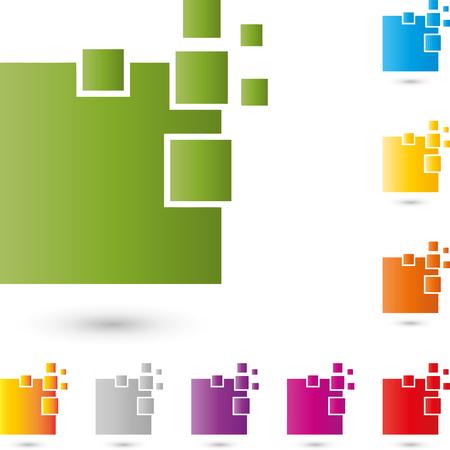 copywriter: Service, IT, computer, logo, rectangles