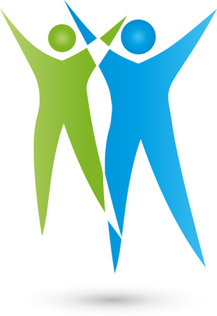 nursing association: Two people Logo, People