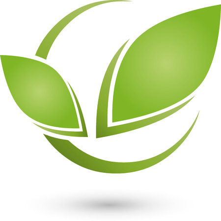 energy healing: Two Leaves, Bio, Naturopaths Illustration