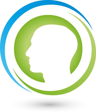 nursing association: Face icon Illustration