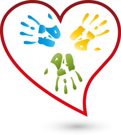Hands and Heart Stock Illustratie