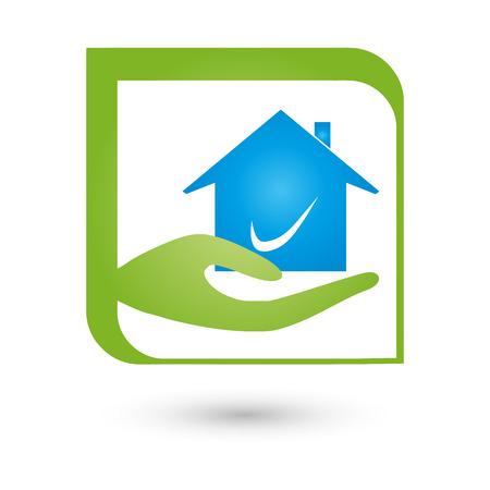 nursing association: Hand and house, Real Estate Illustration