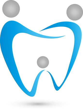 three people: Three people as dental,  family dentist