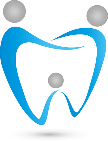 Three people as dental,  family dentist