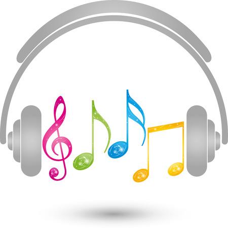 copywriter: Headphones, Music , sound, notes