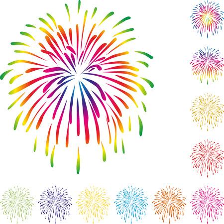 bustle: Fireworks, explosion, background, celebrations