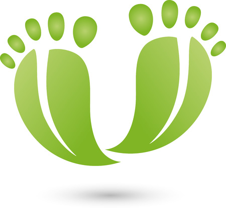 chiropody: Two feet as leaves, service