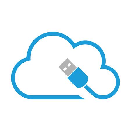 port: Cloud computing, cloud, USB port, USB Illustration