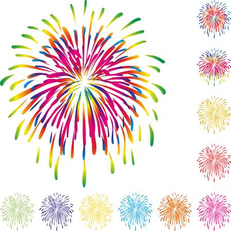 bustle: Fireworks, explosion, background