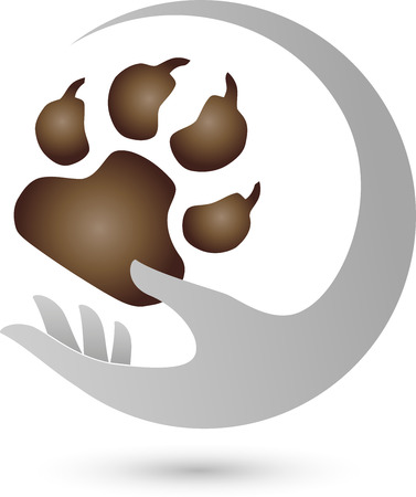 Hand und Pfote, Hunde Vektorgrafik