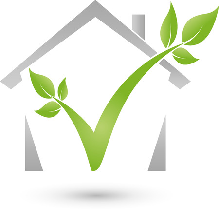 trees services: Home and plant icon