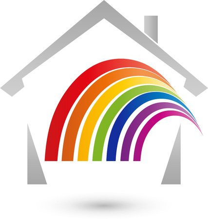 gamut: House and rainbow icon