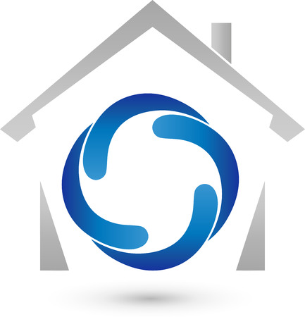 heating engineers: House and four drops