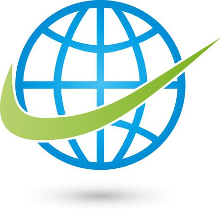 Earth, globe, globe, Transport Vektoros illusztráció