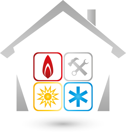 House, sun, snow, Flame, fitter