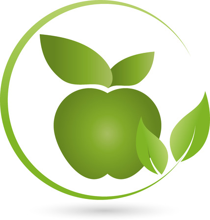 naturopaths: Apple and Leaves,Eating Vegan