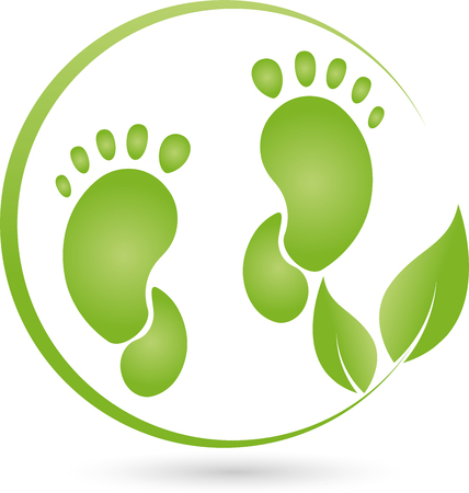 Two feet and leaves,  Chiropody Illustration