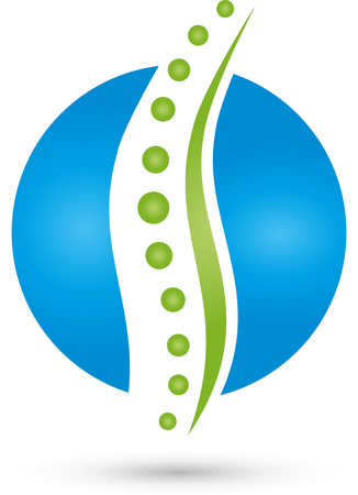 Spine, Orthopedics, Massage Logo Stock Illustratie