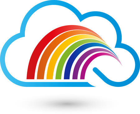 gamut: Cloud and rainbow, painter icon