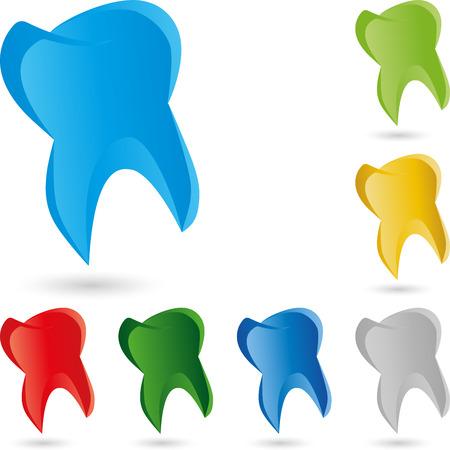 歯は、歯科医、ロゴ 写真素材 - 59772784