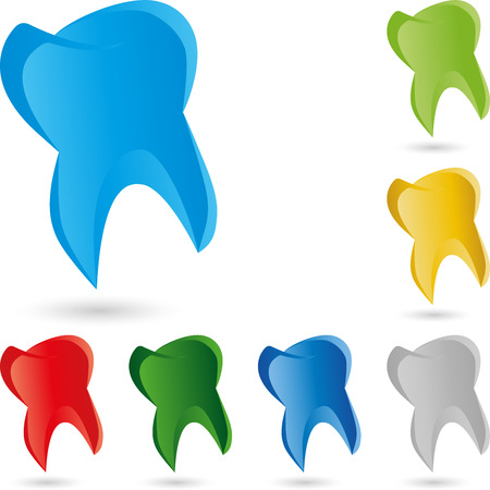 Tooth, dentist, Logo Stock Illustratie