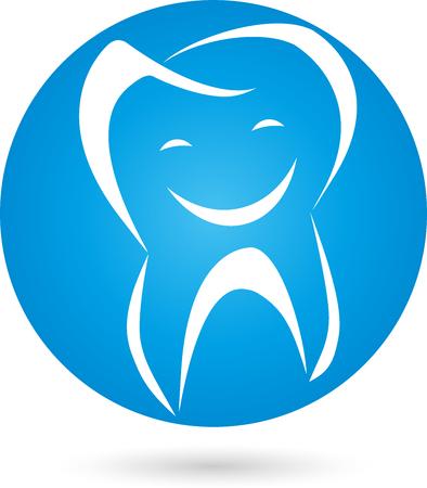 Tooth, logo, ball, smile
