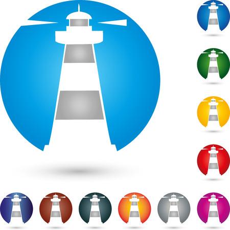 beacon: Logo, tower, lighthouse, beacon Illustration