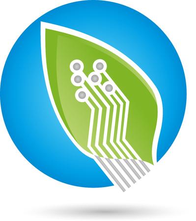 green it: Leaf chip board, Green IT