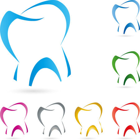 balsam: Tooth illustration for dentist concept