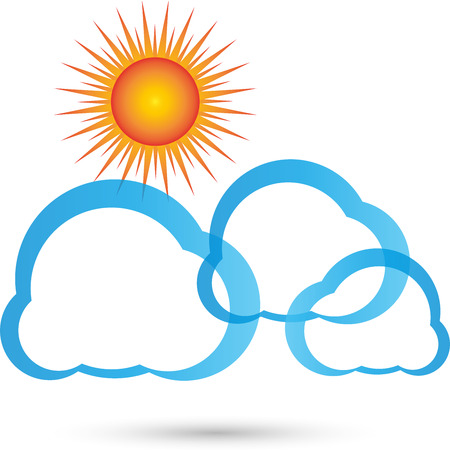 stir: Sun clouds icon Illustration