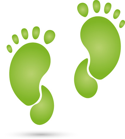 chiropody: Feet print physiotherapy concept