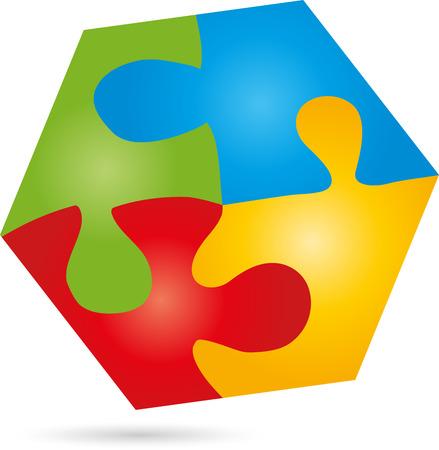 discolored: Puzzle, game,   Hexagon, Square Illustration
