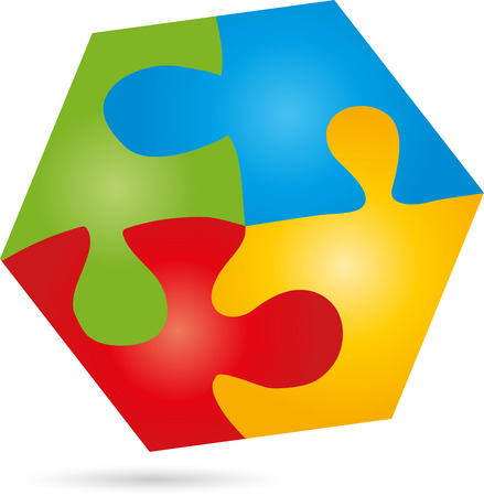 Puzzle, game,   Hexagon, Square Illustration