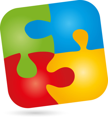 continuation: Puzzle, game,  Square Illustration