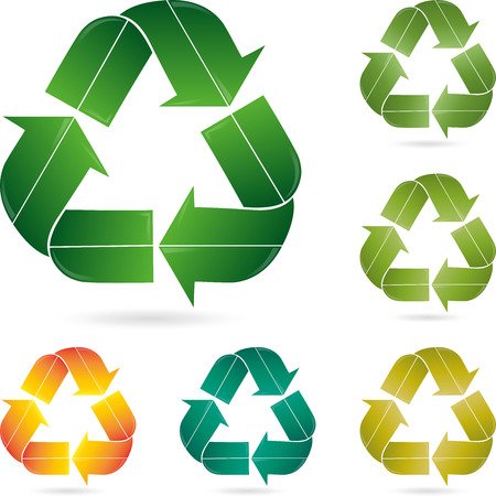 Recycling mark,  Eco Illustration