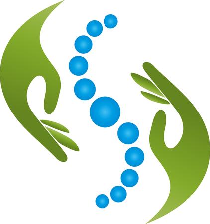 Handen, natuurgenezers, orthopedie, fysiotherapie Vector Illustratie