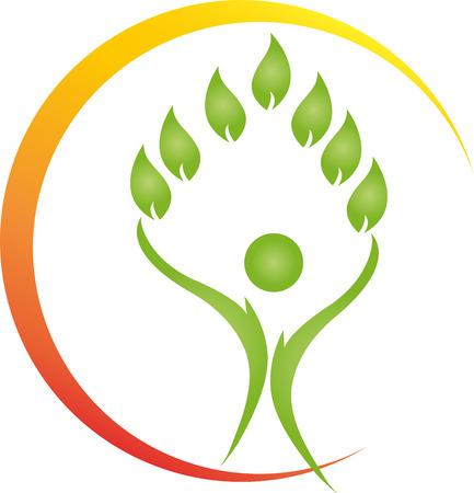 Human, Leaves, Alternative Therapists, illustration
