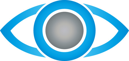 optician: eye, safety, ophthalmologist and optician Illustration