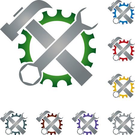 locksmith: Tools, locksmith, gear, illustration Illustration