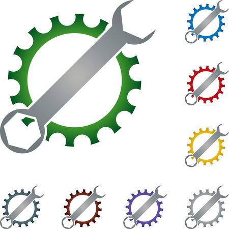 locksmith: Tool, locksmith, gear, illustration