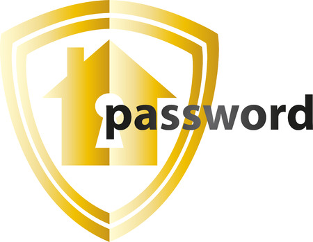 Online Security Technology, hacking, password, shield Illustration