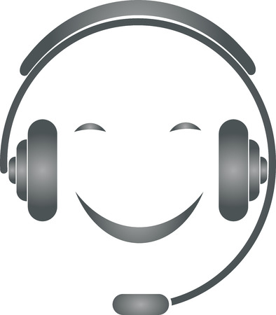 humane: Support, Person, Smiling, Headset Illustration