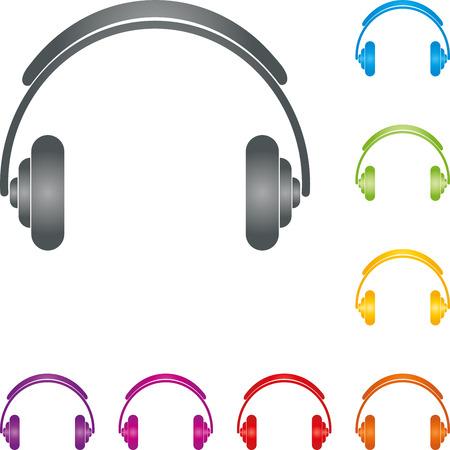 joyous festivals: Headphones, music, sound, audio Illustration