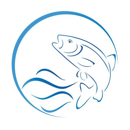 Trout, fish, fishing, illustration Illustration