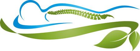 Human, Back, Spine, Orthopedics, Alternative Therapist Stock Illustratie